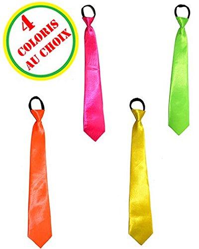 Aptafêtes - AC1270/ORANGEFLUO - Cravate satin orange fluo