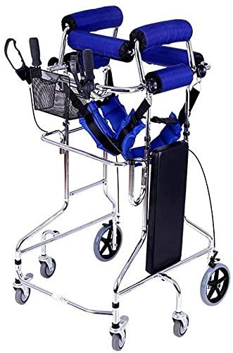 SJZLMB Andadores para Ancianos Freno de Marco para Caminar 6 Ruedas Rollator Walker Movilidad Plegable Movilidad para Caminar Ayuda-Ajustable Altura Ajustable para pie Stepping Pie Training