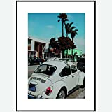 MOMENTO Poster, VW Käfer Wandbild ohne Rahmen, 50x70 cm
