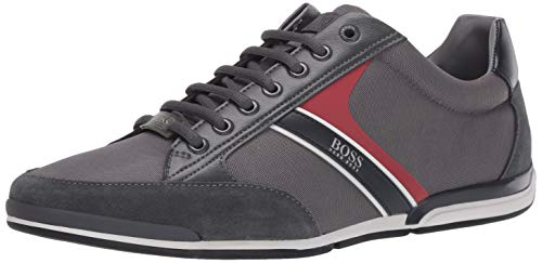 Hugo Boss BOSS Men's Low Top Sneaker, Stone Grey, 9