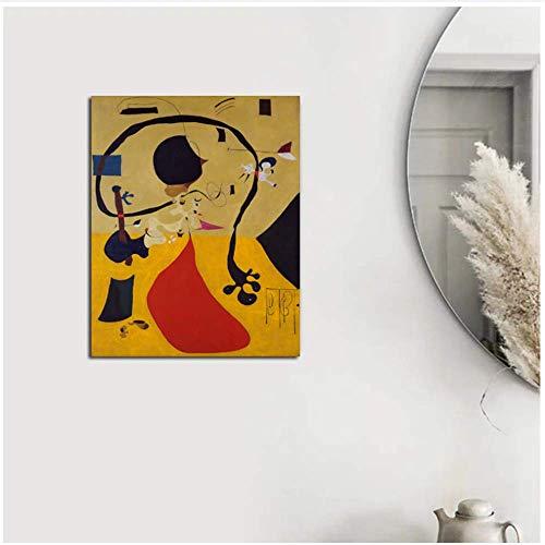 LangGe Bild auf leinwand 20x30cm kein Rahmen Joan Miró Einfache abstrakte Wohnzimmer Home Decoration Artwork Moderne Wandkunst Ölgemälde Poster Bild