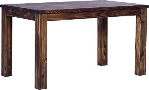 Brasil Furniture Eettafel Rio Classico grootte en kleur naar keuze houten tafel massief grenen, eetkamertafel keukentafel echt hout uittrekbaar klaar voor aansteekplaten Rustiek Tisch 120 x 73 cm 103 eiken antiek