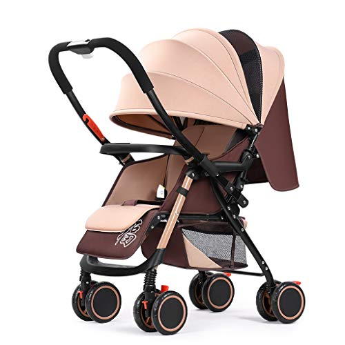 Check Out This Baby Stroller for Newborn, Convertible Stroller Compact Single Baby Carriage Toddler ...