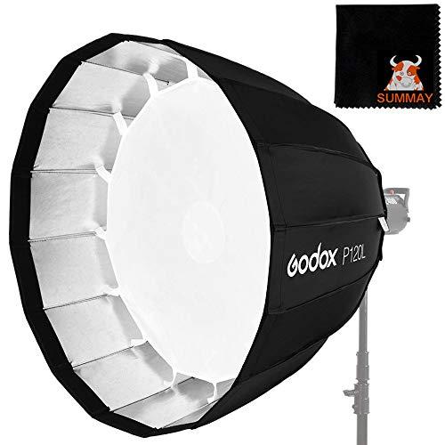 GODOX portatile P120H 120cm versione resistente alle alte temperature di profondità parabolica Light Box Studio Speedlite Reflector Studio Photo Light Box (P120H)
