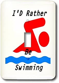 3dRose LLC 3dRose LLC lsp_128633_1 Id Rather Be Swimming - Single Toggle Switch