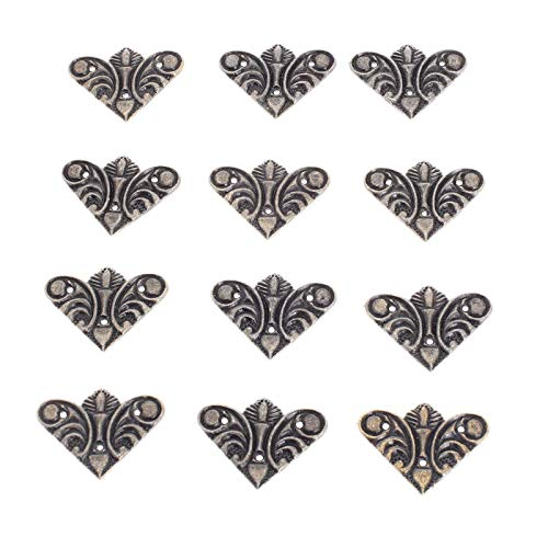 12pcs Metal Tanger Corche Corchets Gold Bronce 30mm 44mm Cuaderno Cubierta de portátil para Menús Marco de fotos Muebles Protector decorativo YUAN CHUANG (Color : A)