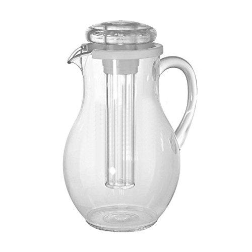 Broc/Carafe avec couvercle et rafraîchisseur à glaçons en polycarbonate pour cuve de eau de boisson ILSA Crystal Gemma 3,3 l