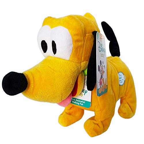 Disney Baby Pluto Animated Barks and Wags Tail Pet Includes Batteries