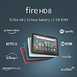 top rated The all-new Fire HD 8 tablet 8-inch 32GB HD display is designed for Twilight Blue portable entertainment 2021