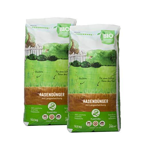 Plantura Bio-Rasendünger mit 3 Monate Langzeit-Wirkung, 21 kg, ideal im Frühjahr und Sommer, Dünger gegen Moos, staubarmes Granulat, unbedenklich für Haustiere