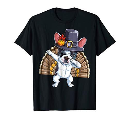 Thanksgiving shirts Dabbing French Bulldog Turkey Pilgrim