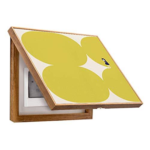 LITING Stromzähler Box Dekorative Malerei Verteilerkasten Block Malerei Malerei Box Push-Pull Malerei Wandbild Elektrische Tor Power Box (Color : White, Size : (55 * 55cm 40 * 44cm))