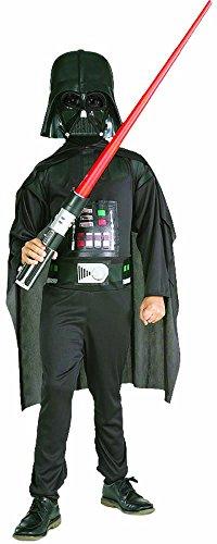 Star Wars - Disfraz de Darth Vader para niño, caja con disfraz, máscara y espada, 8-10 años (Rubie`s 41020-L)