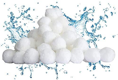 Filtre Balls Balles de Filtration, Filtre pour Piscine de 700g Peut Remplacer 25 kg Sable Filtrant Sable de Quartz, Convient à Divers systèmes de Filtration Boules de sable pour Filtre de Piscine