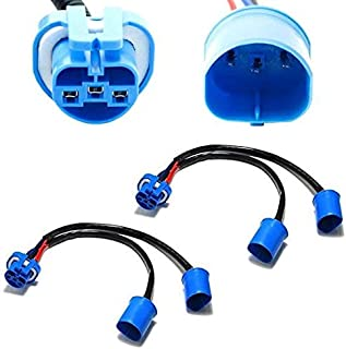 iJDMTOY (2) 9007 HB5 2-Way Merge Wires For Aftermarket Headlight Retrofit Conversion Use (1-Female 2-Male)