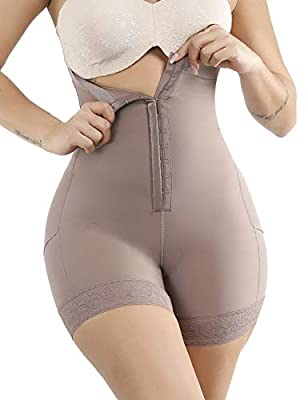 Lover-Beauty Women Seamles Shapewear Tummy Control Body Shaper Firm Control High Waist Thigh Slimmer L Light Brown