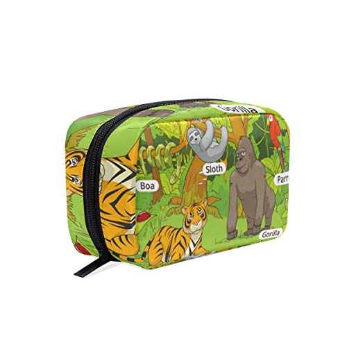 Sac cosmétique avec Zipper Guide des animaux Embrayage Sac de rangement de voyage Maquillage Poche Sac Organisateur Cas pour les femmes