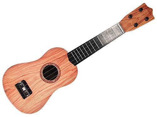 Alsino Gitarre Kinder Spielzeug 55 cm lang mit 4 echten Saiten - Braun - Perfekt zum Lernen für Kids 8539