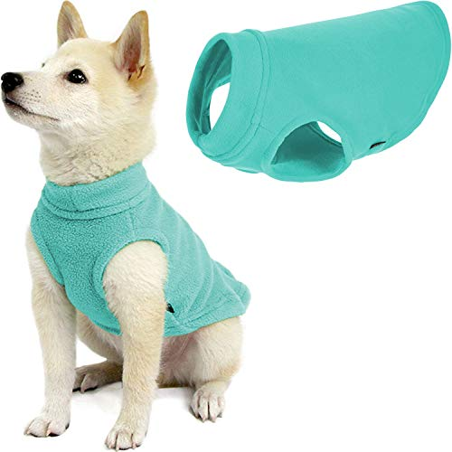 Gooby Stretch Fleece Dog Vest - Mint, Medium - Pullover Fleece Dog Sweater - Warm Dog Jacket Winter Dog Clothes Sweater Vest - Dog Sweaters for Small Dogs to Large Dogs for Indoor and Outdoor Use