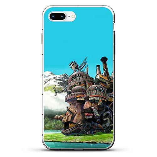 TeeTan Clear Coque Matte Slim Soft Liquid TPU Durable Case Cover for Apple iPhone 7 Plus/8 Plus-Howl's-Moving Castle Anime 5