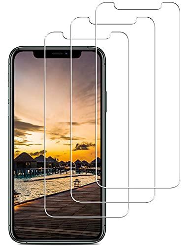 [3 Stück] Panzerglas für iPhone 11 Pro/iPhone XS/iPhone X, Panzerglasfolie, 9H Hartglas Schutzfolie, Anti-Kratzer, Bläschenfrei, 3D Glas, HD Displayschutz Folie, Hülle Freundllich