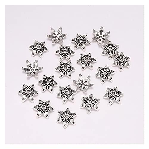 BOSAIYA PJ1 20 unids/Lote 12 mm Tibetano Hexagama Antiguo Hexagram Suelto Sparer APARTE Final Tapa de Cuentas para la joyería de Bricolaje Que Hace Encontrar Pendientes Pendientes Tl702