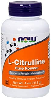 NOW Foods L-Citrulline Powder, 4 ounce (Pack of 2)
