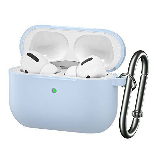 BRG for Airpods Pro Case,Soft Silicone Skin Cover Shock-Absorbing Protective Case with Keychain for Apple Airpods Pro [Front LED Visible]