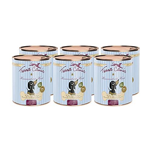 Terra Canis Huhn, Kürbis, Blütenpollen & Kamille - Welpen Nassfutter, 6x800g I Premium Hundefutter in 100{0f1fc2ab2a124d047fe0d64125a339d01a7adf58c910790278d9a19e2973b0d6} Lebensmittelqualität Aller Rohstoffe I Reichhaltig & gesund I Getreide - & glutenfrei