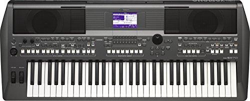 Yamaha Digital Keyboard PSR-S670, dunkelgrau – Digital-Keyboard mit authentischen Instrumentenklängen & DJ-Styles – 61 anschlagdynamische Tasten