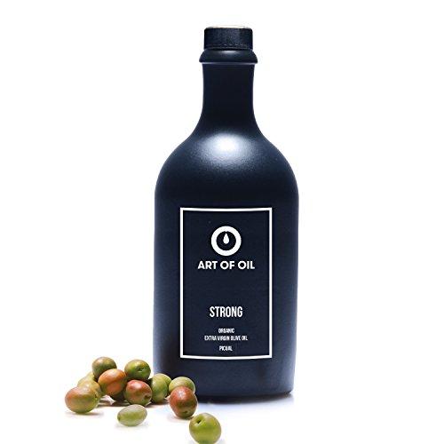 Olivenöl Kaltgepresst von ART OF OIL STRONG | 500ml BIO Olivenöl Nativ Extra | Speiseöl aus Picual Oliven | Spanische Lebensmittel Must Have