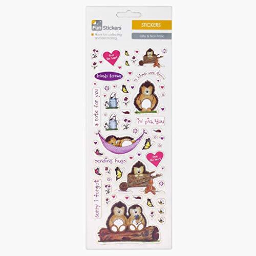Fun Stickers Hedgehog Friends 513