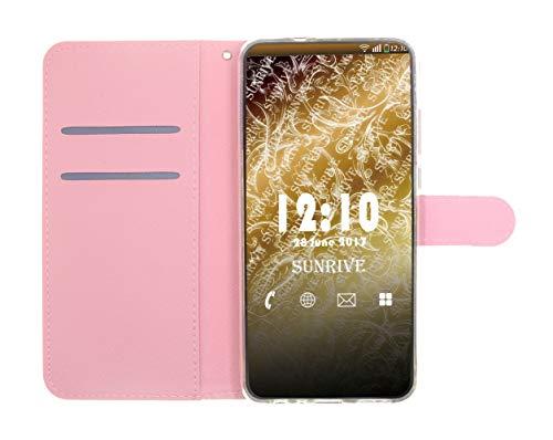 Sunrive Hülle Für Huawei Y5 (Y560), Magnetisch Schaltfläche Ledertasche Schutzhülle Etui Leder Case Cover Handyhülle Tasche Schalen Lederhülle(Baum Katze) - 5