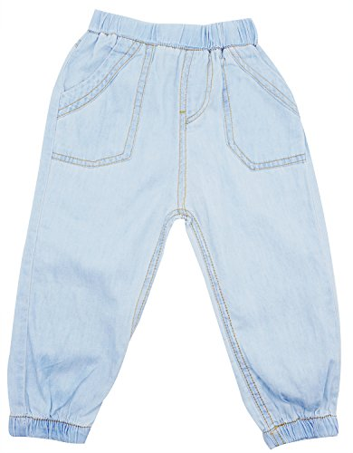 Unisex Boys Girls Casual Anti-Mosquito Pants Children Loose Casual Trousers Classic Leggings, Light Blue, 3-4T