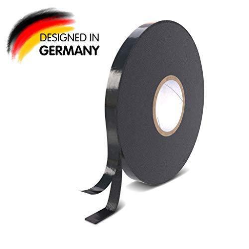 Rietlow Doppelseitiges Klebeband Extra Stark - Universal Montageband aus widerstandsfähigem PE-Schaum - Schwarzes Doppelseitiges Klebeband 12mm x 10m - Verbessertes Konzept 2020