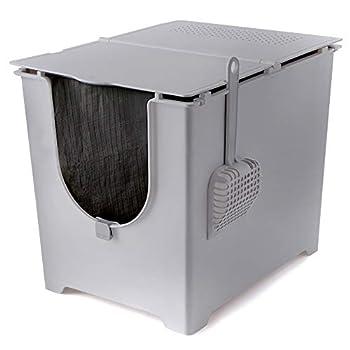 Modkat Flip Boîte à Litière avec Pelle et Réutilisable Liner