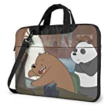 Anime We Bare Bears Laptop Bag Backpack Sleeve Case Cover for Women Men Portable Briefcase Tote Cases Double-Layer Large Capacity 14 Inch