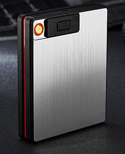 Ning Night sigarettenetui & aansteker multifunctionele sigarettenhouder USB elektrische oplaadbare sigarettenaansteker uitdrukken sigarettenpunt met zaklamp (2 cajas)