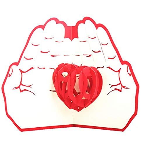 Hotaden Love 3D Pop UP Cards Postcard Wedding Invitation Greeting Cards Birthday Gifts