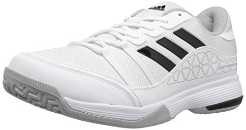 adidas Men's Barricade Court Wide Tennis Shoes, White/Black/Light Onix, ((10 W US)