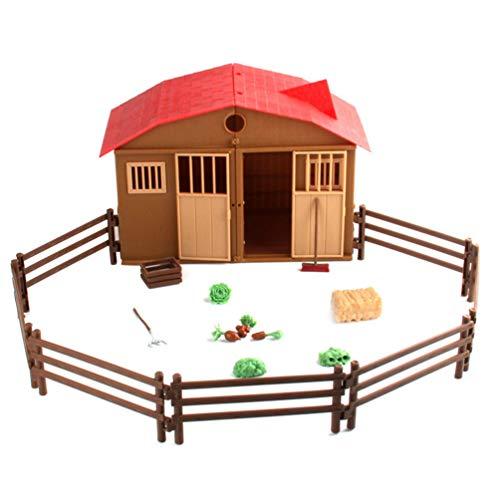 Toyvian Juego de Juguetes de Granja Little People Juego de Granja para Niños Chikdren Toddlers
