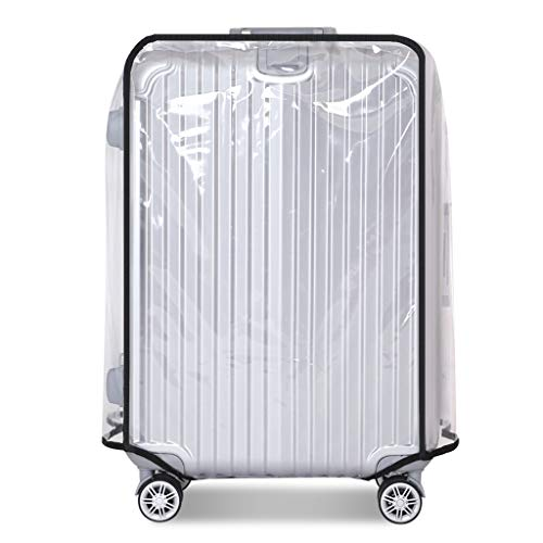 Luggage Cover Clear PVC Suitcase Cover for Carry on Luggage Utility to Use