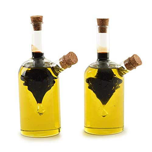 Norpro Oil and Vinegar Cruets, Set of 2, Clear