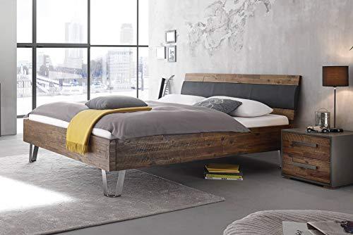 SuMa Wasserbett + Bettrahmen Factory Dallas + Kopfteil Coria + Füße Jeno (200 x 220 cm, Mittlere Beruhigung)