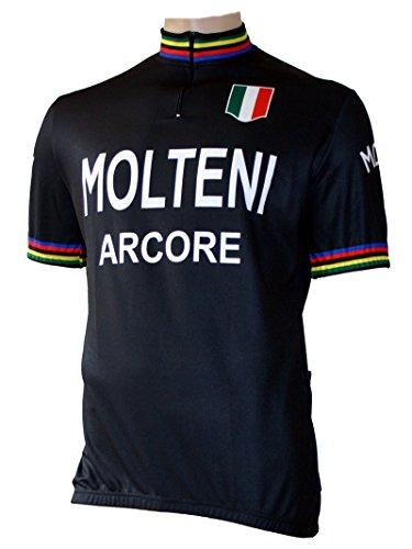 Skaide Molteni World Champion - Maillot de ciclismo, diseño retro, color negro,...