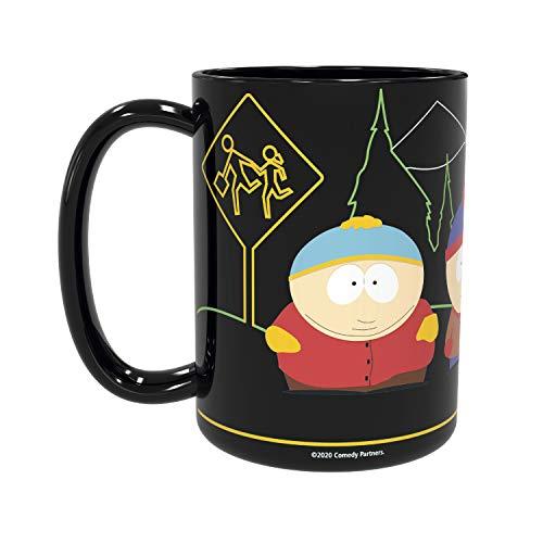 Zak Designs Große Keramik-Kaffeetasse mit breitem Griff, für warme Neuheit, Sammlerstück, Souvenir, South Park Friends