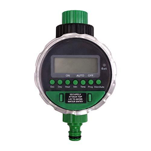 Programador de Riego KKmoon Temporizador de agua pantalla digital Temporizador riego automatico válvula de bola electrónica controlador de riego para riego automático/manual