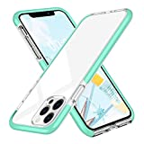 FGA Compatible with iPhone 12 Pro Max Crystal Clear Case, Transparent Slim Thin Anti-Scratch Soft TPU Skin Cover, Bumper Shockproof Protective Case Compatible with iPhone 12 Pro Max 6.7' 2020 (Green)