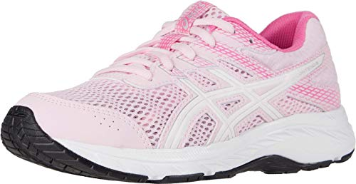 ASICS Kid's Contend 6 GS Running Shoes, 2M, Cotton Candy/White