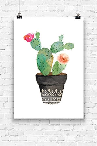 Print Wandbild Poster Bild Wanddeko Kaktus Nr.1 A4